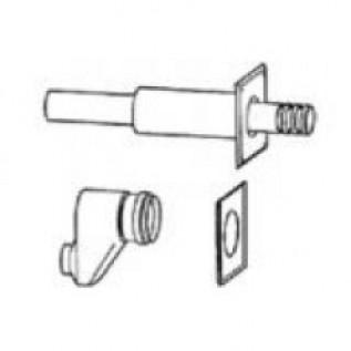 Гориз. комп. для отвода дым. газов через нар. стену DN80/80  на DN80/125