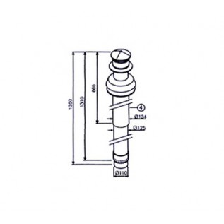 Коакс. труба для вертик. Вывода AZ 396