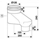 Вертикальный адаптер DN80/80 на DN80/125